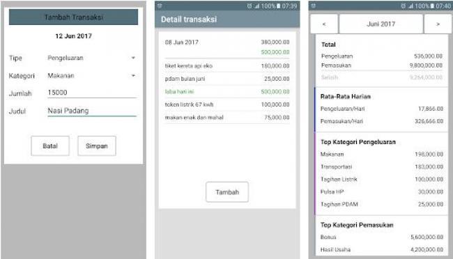 3. Aplikasi Catatan Keuangan Harian