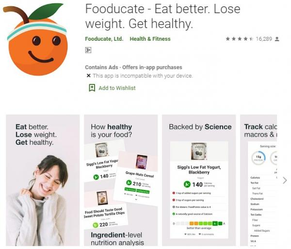 Fooducate Healthy Weight Loss and Calorie Counter