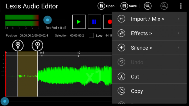 Lexis Audio Editor