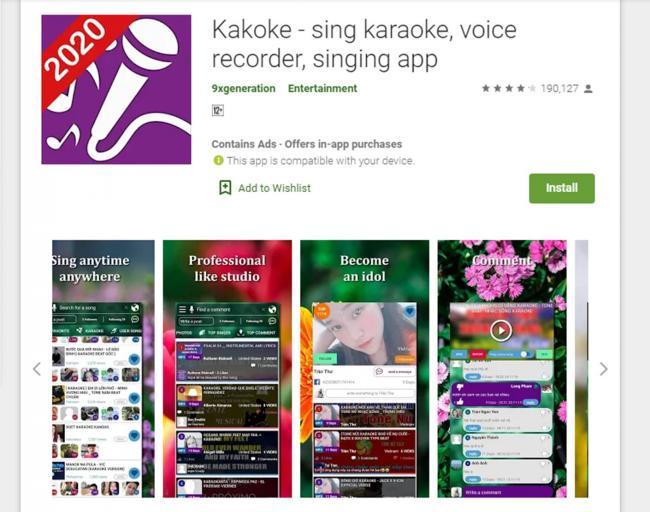 Aplikasi Karaoke Kakoke