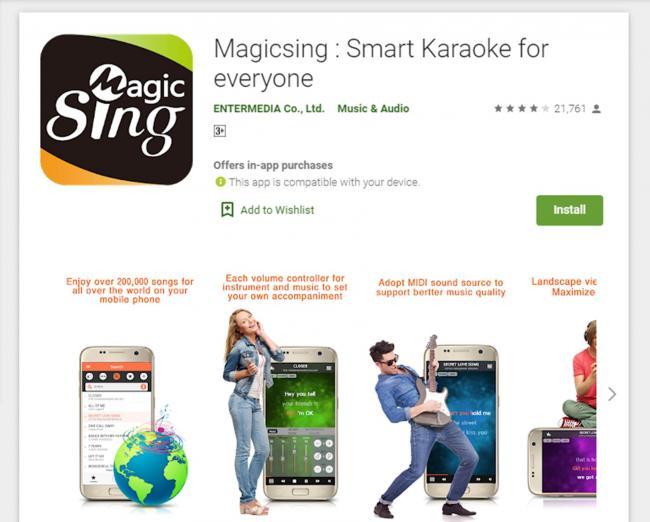 Aplikasi Karaoke Magicsing