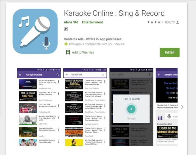 Aplikasi Karaoke Online