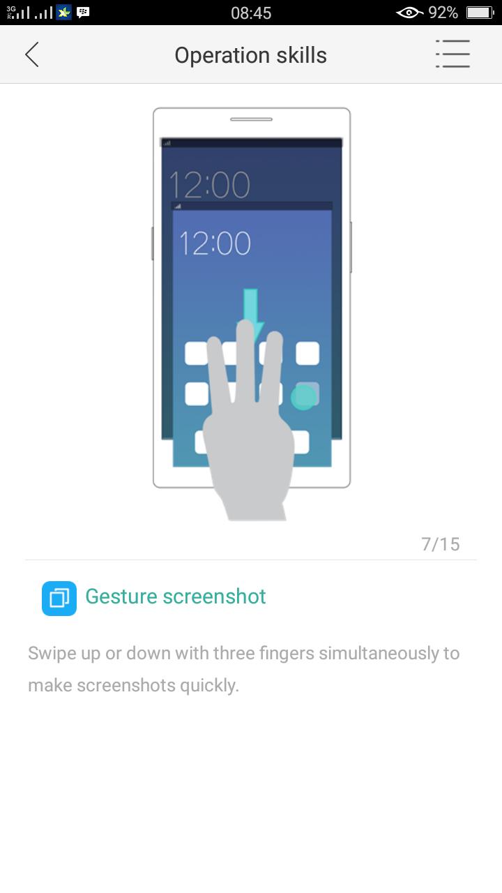 Cara Mudah Screenshot Hp Oppo Panjang Menggunakan Tiga Jari