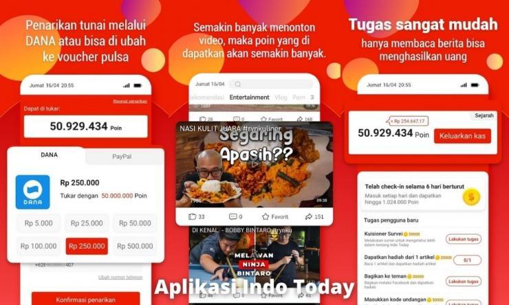 Aplikasi Indo Today Penghasil Uang Dengan Membaca Berita