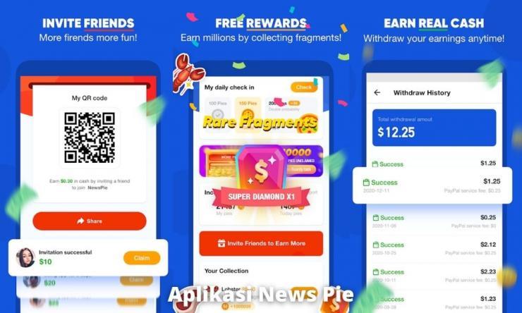 Aplikasi News Pie Penghasil Uang Dengan Baca Berita