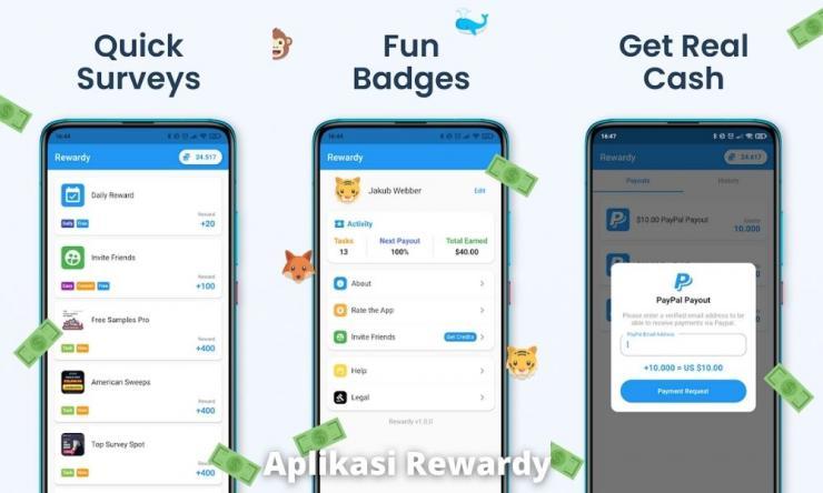 Aplikasi Rewardy Penghasil Uang Dengan Survei