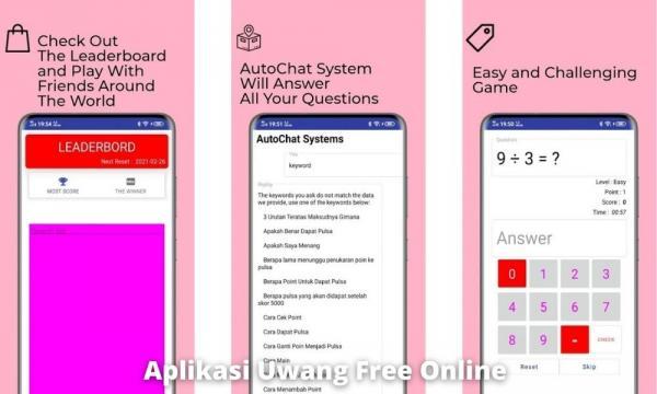 Aplikasi Uwang Free Online Penghasil Uang Dengan Jawab Soal Matematika