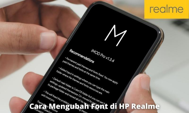 Ganti Font Hp Realme Dengan Imod Pro