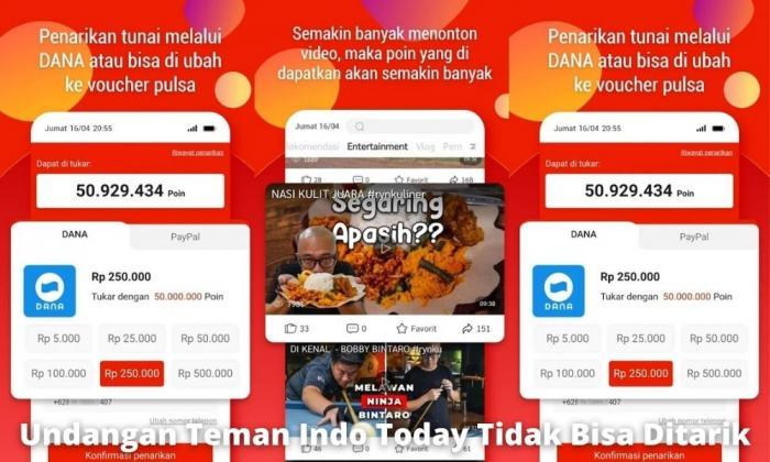 Permasalahan Bonus Undangan Teman Indo Today Tidak Bisa Ditarik