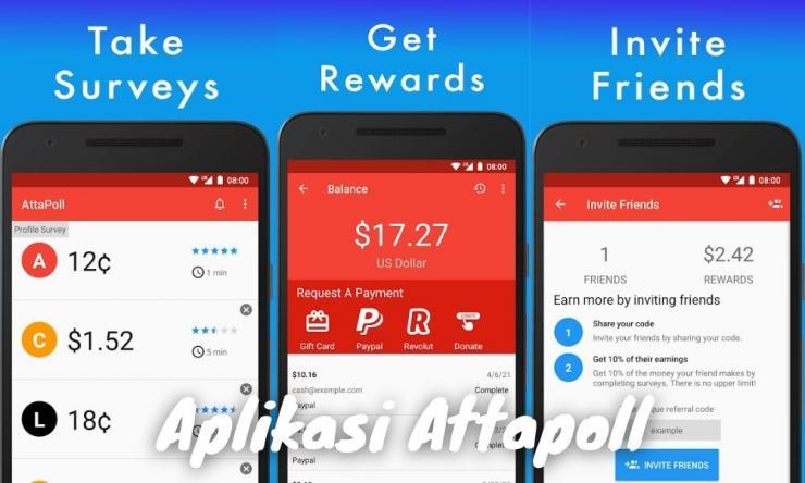 Aplikasi Attapoll Penghasil Uang Dengan Survey Online