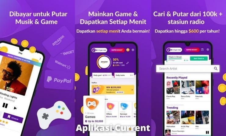 Aplikasi Current Penghasil Uang Dengan Dengerin Musik