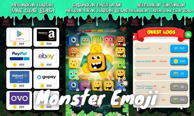 Aplikasi Game Monster Emoji Penghasil Uang