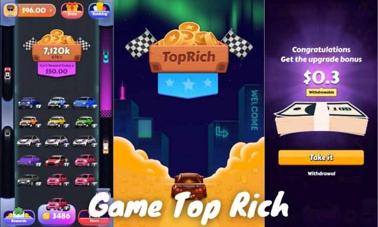 Aplikasi Game Top Rich Penghasil Uang Dengan Main Game
