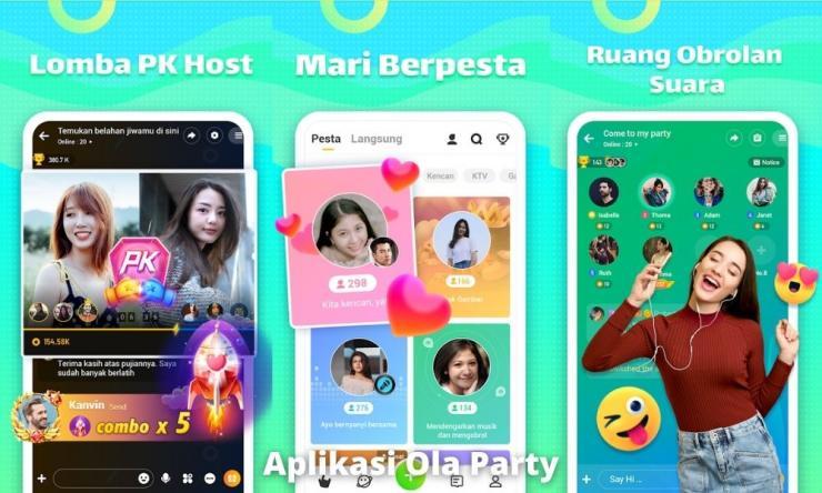 Aplikasi Ola Party Penghasil Uang