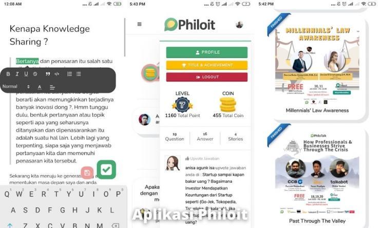 Aplikasi Philoit Penghasil Uang Dengan Membuat Tulisan