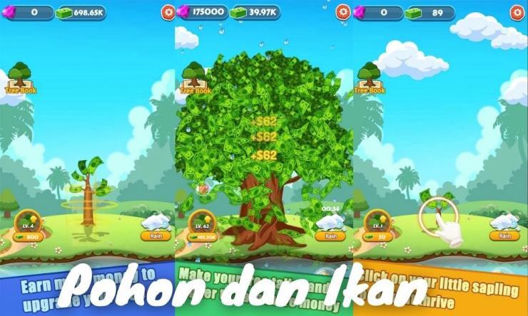 Aplikasi Pohon Dan Ikan Penghasil Uang Dengan Main Game