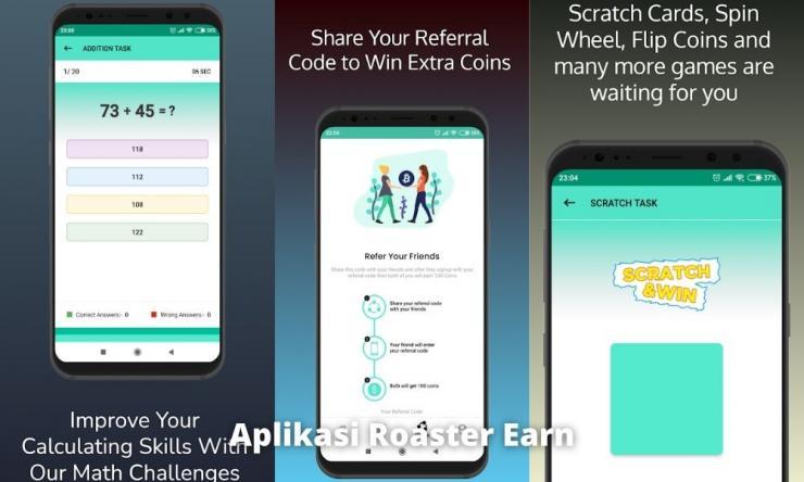 Aplikasi Roaster Earn Penghasil Uang Dengan Misi