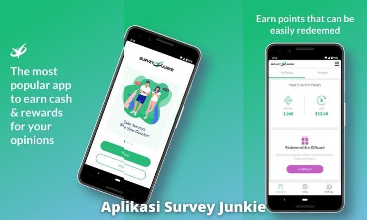 Aplikasi Survey Junkie Penghasil Uang Dengan Survei