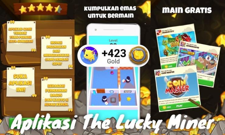 Aplikasi The Lucky Miner Penghasil Uang Dengan Menambang