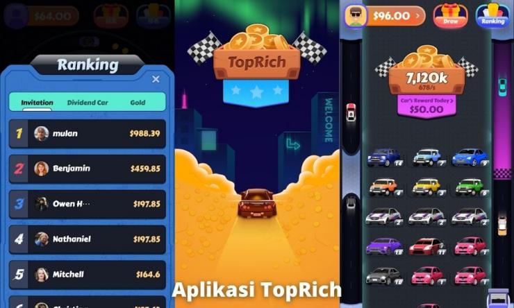 Aplikasi Toprich Penghasil Uang Dengan Main Game