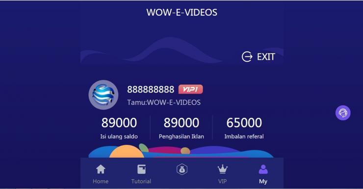 Aplikasi Wow E Videos Penghasil Uang Dengan Nonton Iklan