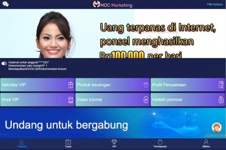 Mdc Marketing Penghasil Uang Dengan Misi Harian