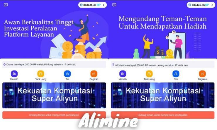 Alimine Apk Penghasil Uang Dengan Nambang Virtual