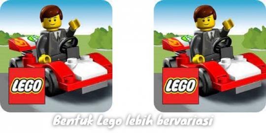 Bentuk Lego Lebih Bervariasi