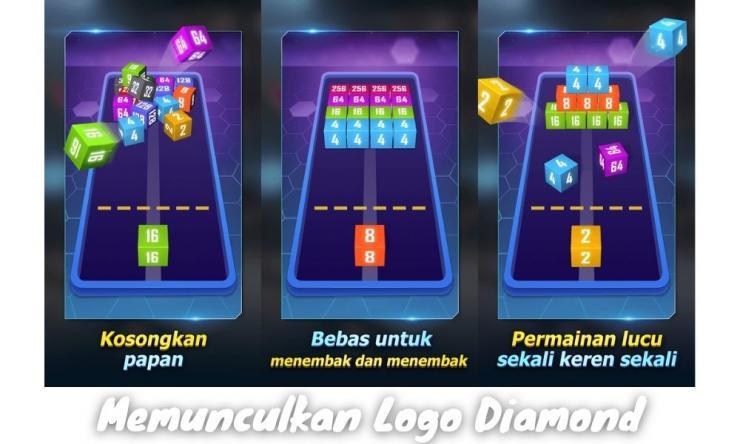 Cara Memunculkan Logo Diamond Di 2048 Cube Winner