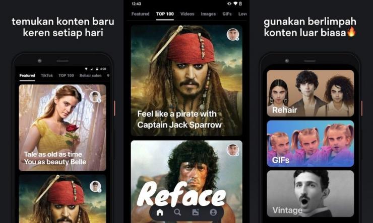 Cara Menggunakan Aplikasi Reface App Agar Foto Bisa Bernyanyi