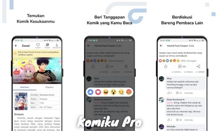 Komiku Pro Mod Apk Premium, Aplikasi Wajib Pecinta Komik