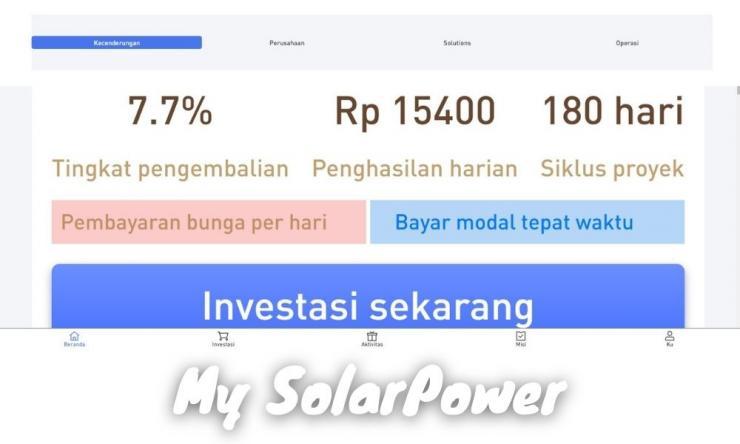 My Solarpower Apk Penghasil Uang