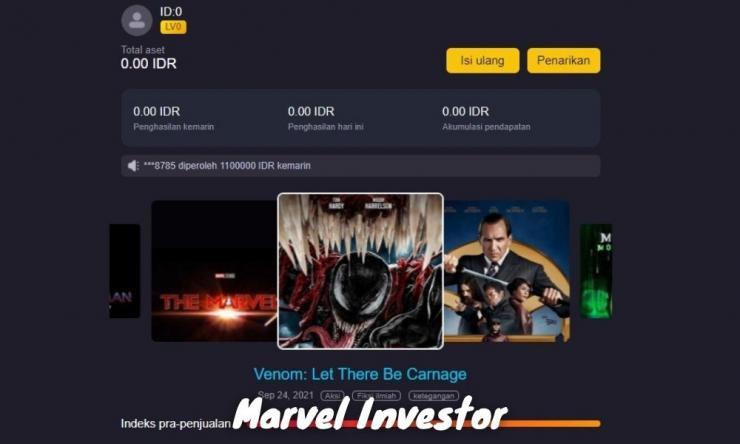 Aplikasi Marvel Investor Penghasil Uang Dengan Berinvestasi