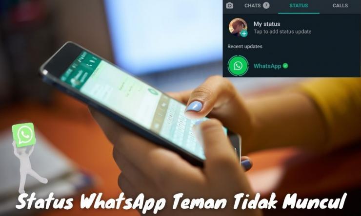 Cara Mengatasi Status Whatsapp Teman Tidak Muncul